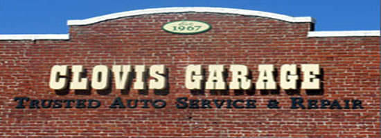 Clovis Garage Sign